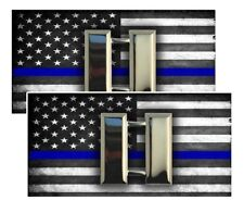 Subdued American Flag Sheriff Police Captain Eagle Rank Decals Pack Of Two