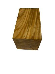 """Beautiful Olivewood Turning Wood Blank/Wood Block/Lathe 6""""x3""""x3"""", #169"""
