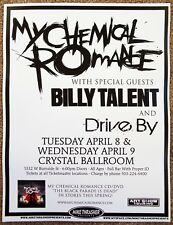 MY CHEMICAL ROMANCE 2008 Gig POSTER Portland Oregon Concert