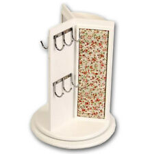 REVOLVING JEWELLERY STAND GIFT HOOKS RINGS EARRING NECKLACE DISPLAY UNIT NEW