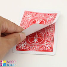 BICYCLE RIDER BACK NO FACE SINGLE CARD MAGIC TRICKS PLAYING GAFF RED NEW