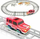 ArtCreativity Battery Operated SUV Playset for Kids, Adventure Play Set with...
