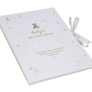 White Bambino Record Memory Keepsake Book A4 Adorable Design New Baby Unisex
