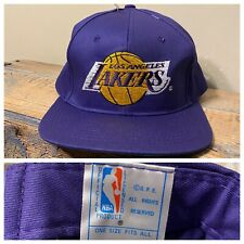 Vintage Los Angeles Lakers Hat Snapback Drew Pearson Purple Motion Logo NWT NOS
