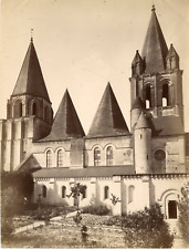France, Loches, Le Donjon, La Tour Louis XI  Vintage albumen print  Tirage alb