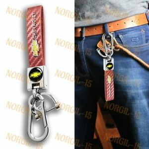 Gift Decor Keychain Lanyard Quick Release Key chain Leather for CHEVY CHEVROLET