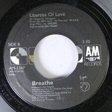 Rock 45 Breathe - Liberties Of Love / Don'T Tell Me Lies On A & M Records