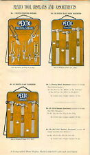 1940 ADVERT Store Display Wall Boards Pexto Tool Tools Hammer Chisels Pliers