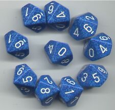 NEW RPG Dice Set of 10D10 - Speckled Water