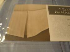 Charter Club Home Damask Stripe Light Blue King Bedskirt TWLT New Bed Skirt