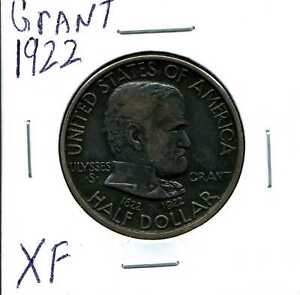 1922 50C Grant Commemorative Half Dollar in XF Condition #03527