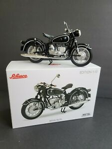 Schuco 1/10 BMW R69S 1969 Black Color, Motorcycle with a single seat. RARE New