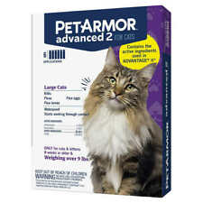PetArmor Advanced 2 for Large Cats Over 9 lbs,6 Monthly Applications Waterproof