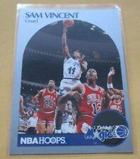 Sam Vincent 1990-91 Hoops Basketball Trading Card W/ Michael Jordan Jersey #12