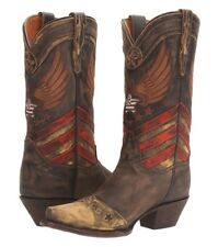 DAN POST Womens N'Dependence Distressed Brown Western Boots Cowgirl Boot US 9.5