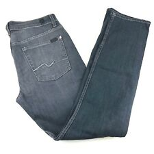 7 for all mankind Straight Fit Stretch Gray Denim Jeans Mens 32/36/38 x34 NWT