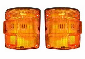 1986 1987 1988-1992 Hino FD FE EF FG Series Front Signal Lights Lamps SET- Pair