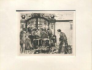 "Kathe Kollwitz - ""Sturm""  (From the Revolt of the Weavers series)  1922"