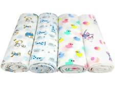 Baby Muslin Cotton Swaddle Blanket Wrap Nursing Cover Burp Cloth, Large 49x49 in