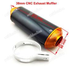 38mm CNC Exhaust Muffler For 125cc 140 150 160cc Dirt Pit Bike CRF50 SSR TTR KLX