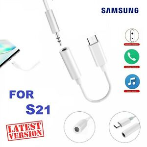 Samsung Galaxy S21 5G Ultra USB Type C to 3.5mm AUX Audio Headphone Jack Adapter