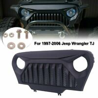 Grill Grille Black/Matte Gladiator w/Mesh Fits For 1997-2006 Jeep Wrangler TJ