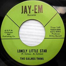 CALMES TWINS teen bopper 45 LONELY LITTLE STAR vg+ b/w GOLDEN TOWERS vg++  F1387