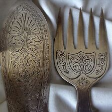 Antique Silver Hand Etched 8Pcs Cutlery Hermann Germany Tableware Kitchen Dinner