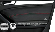 RED STICH 2X FRONT DOOR CARD TRIM LEATHER COVER FITS AUDI A5 SPORTBACK 4 DOOR