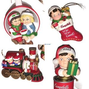 1999 - 2002 Campbell's Soup Campbell Kids Limited Edition Christmas Ornaments