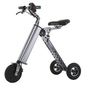 Electric 3-wheels Bike Folding Brushless Motor Trike for adults Tricycle 250W