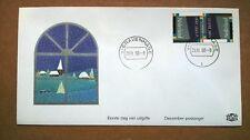 NVPH 1461 paar Decemberzegels op speciaal 1e dag cover