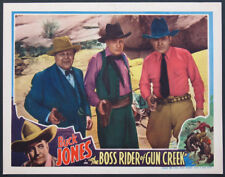 BOSS RIDER OF GUN CREEK BUCK JONES GUN DRAWN WESTERN 1936 LOBBY CARD