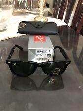 Occhiali da Sole Ray-Ban Wayfarer RB2140 901 Colore Nero Lenti Verdi 50-22 Nuovi