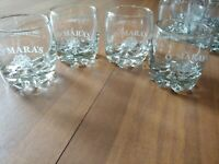4 O'MARA'S IRISH COUNTRY CREAM  BOURBON/WHISKEY GLASS pointy teeth base