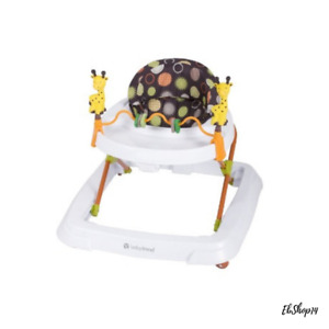 Baby Walkers Girls Boys with Toys Removable Bar Multi-Directional Wheels, Safari
