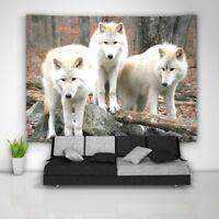 Wolf Tree Wandteppich Kunst Wandbehang Tisch Bettdecke Wohnkultur