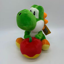 Super Mario Green Yoshi With Apple Plush Soft Toy Doll Teddy 8""