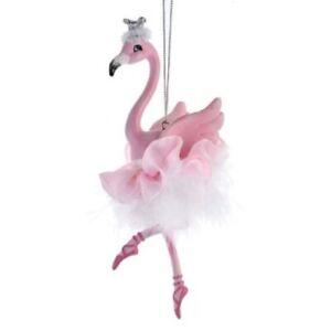 Flamingo Ballerina Christmas Ornament E0480 New
