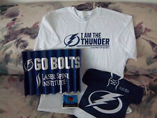 Tampa Bay Lightning NHL Hockey T Shirt Bambam Rally Flag Fan Sign Clapper 4 Pcs.