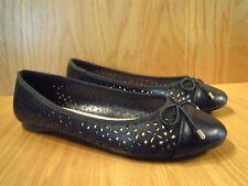 Kurt Geiger Ladies Shoes Size 7 Black Flat Ballerina Pumps Carvela Bow Shoe NEW