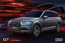 Audi Q7 e-tron quattro Prospekt 3/16 2016 Autoprospekt Broschüre brochure Auto