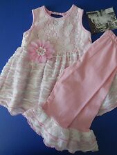 BABY TODDLER GIRL 'CACH CACH' DRESS/TOP + LEGGINGS SIZE 2 FITS 2 YEARS *NEW