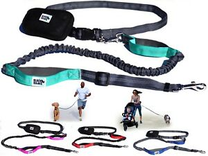 Black Rhino - Premium Hands Free Dog Leash for Running Walking Jogging & Hiking-