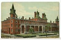 The OGLETHORPE HOTEL, Newcastle & Bay St 1907 - 1915 Brunswick, Georgia Postcard