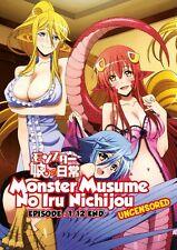 DVD Monster Musume No Iru Nichijou Episode 1-12 End Anime Boxset Uncensored Ver