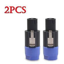 2pcs 4 Pole Male Speakon Connector Cable Plug Lock for Neutrik Speakon NL4FC Mic