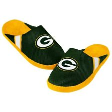 Green Bay Packers Jersey Mesh SLIDE SLIPPERS New - FREE USA SHIPPING