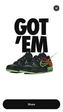 Nike Air Rubber Dunk Off-White Green Strike Size 10*Preorder*
