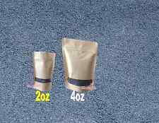 50 2oz Kraft Stand Up Pouch Bags With Poly Window Food Safe Resealable Bags